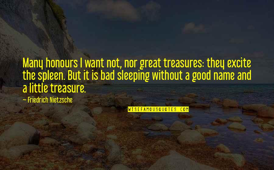 Bolanle John Quotes By Friedrich Nietzsche: Many honours I want not, nor great treasures: