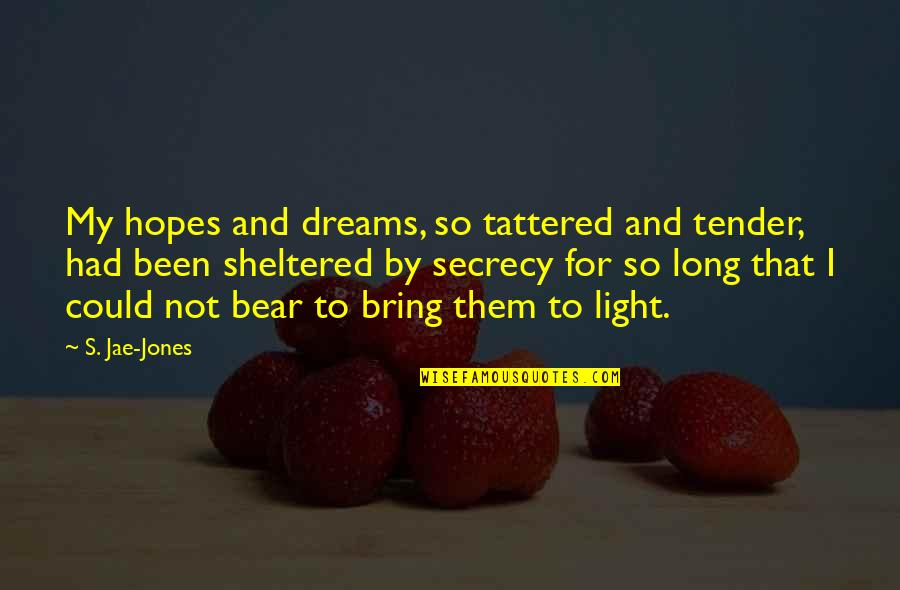 Bonds That Can't Be Broken Quotes By S. Jae-Jones: My hopes and dreams, so tattered and tender,