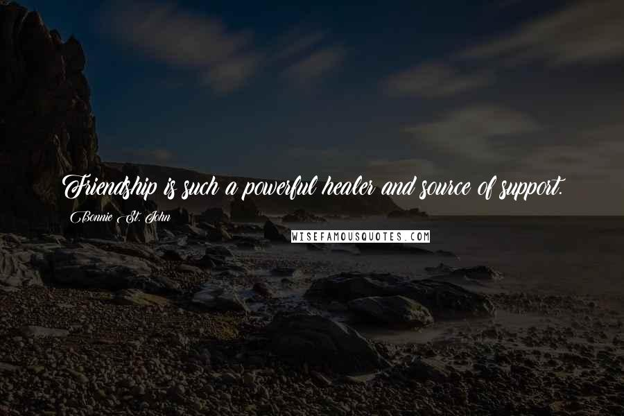 Bonnie St. John quotes: Friendship is such a powerful healer and source of support.