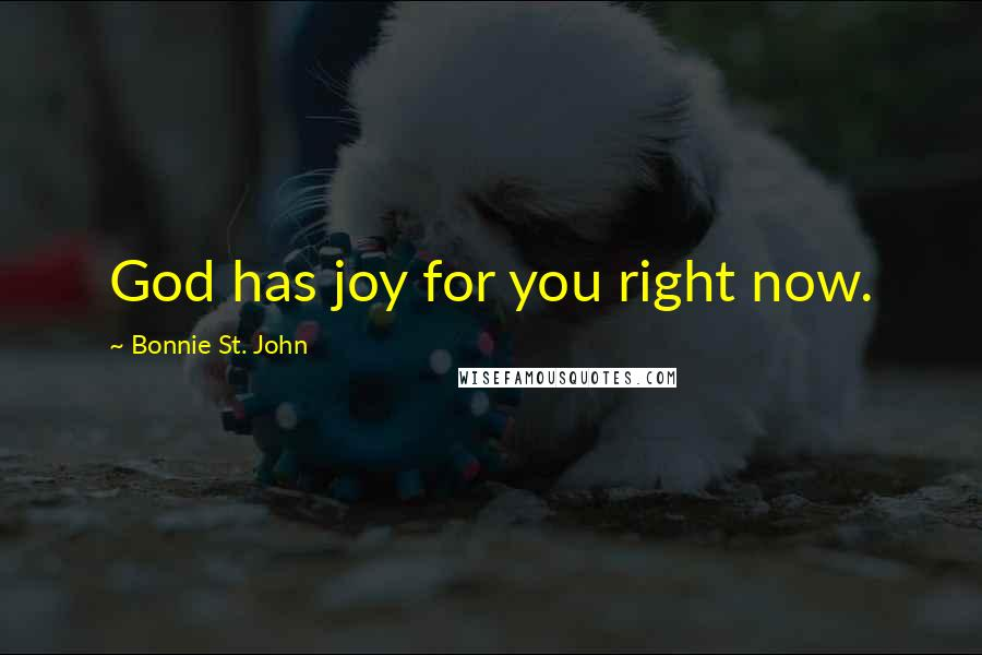 Bonnie St. John quotes: God has joy for you right now.