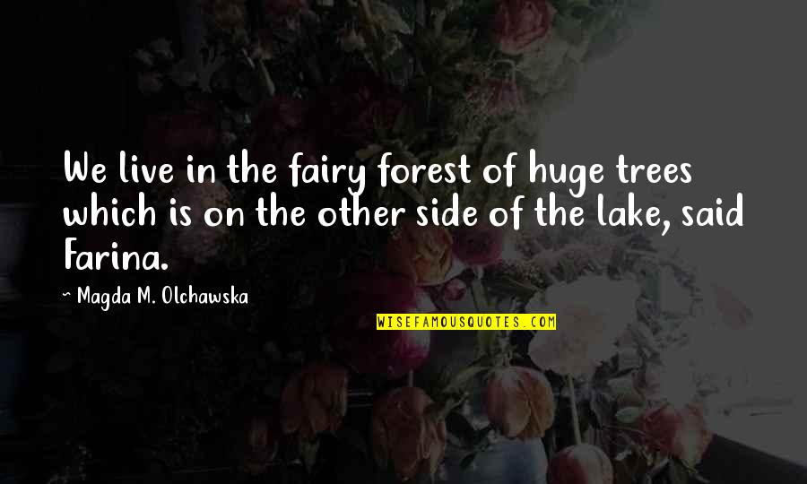 Books And Trees Quotes By Magda M. Olchawska: We live in the fairy forest of huge