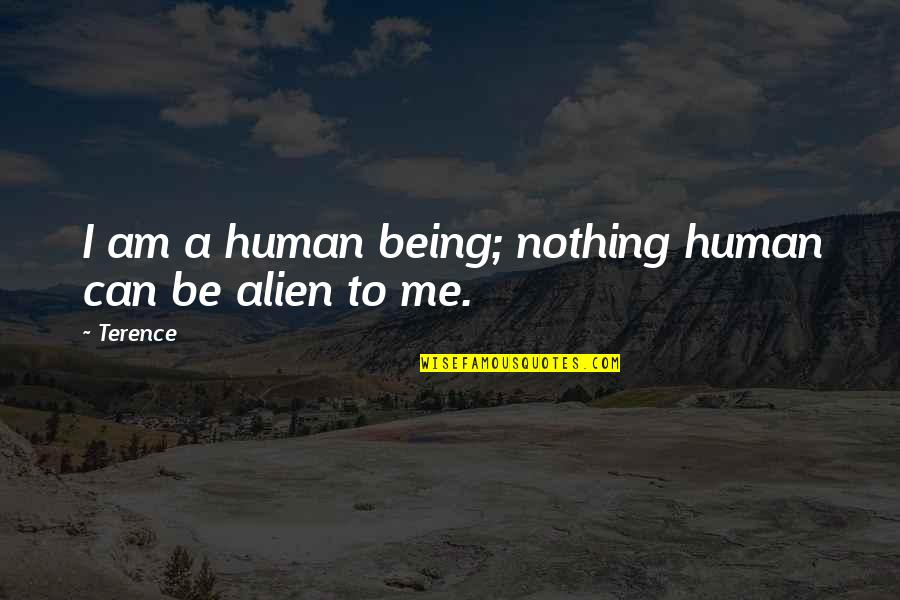 Books And Trees Quotes By Terence: I am a human being; nothing human can