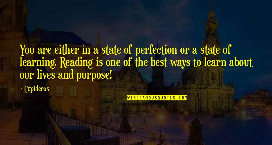Books Best Love Quotes By Cupideros: You are either in a state of perfection