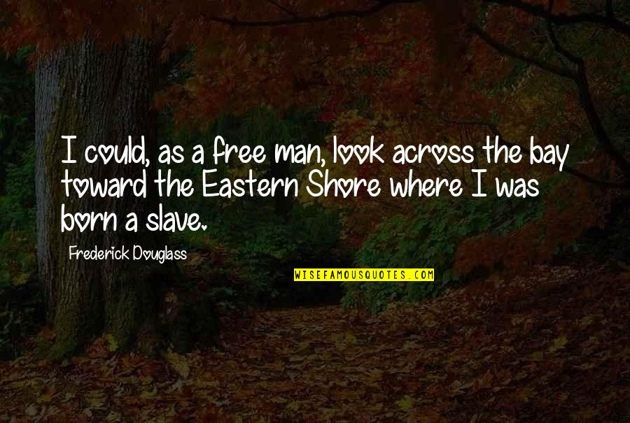 Born Free Quotes By Frederick Douglass: I could, as a free man, look across