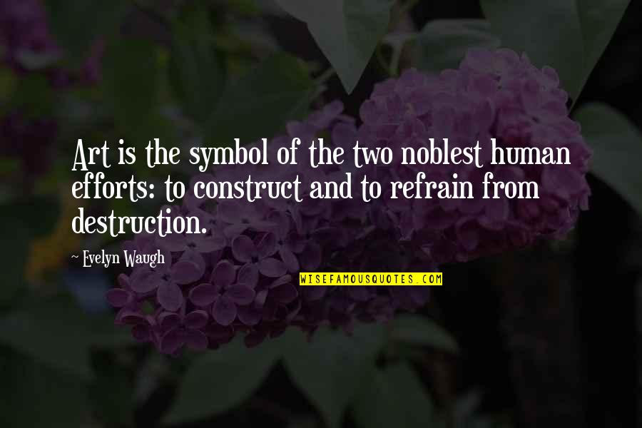 Born In December Quotes By Evelyn Waugh: Art is the symbol of the two noblest