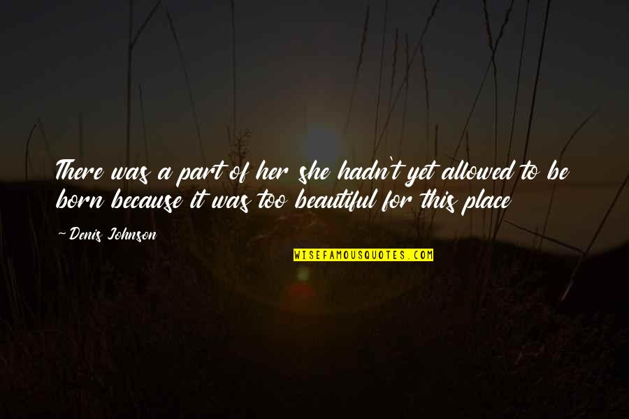 Born Place Quotes By Denis Johnson: There was a part of her she hadn't