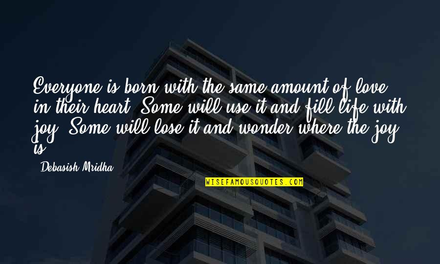 Born Quotes And Quotes By Debasish Mridha: Everyone is born with the same amount of