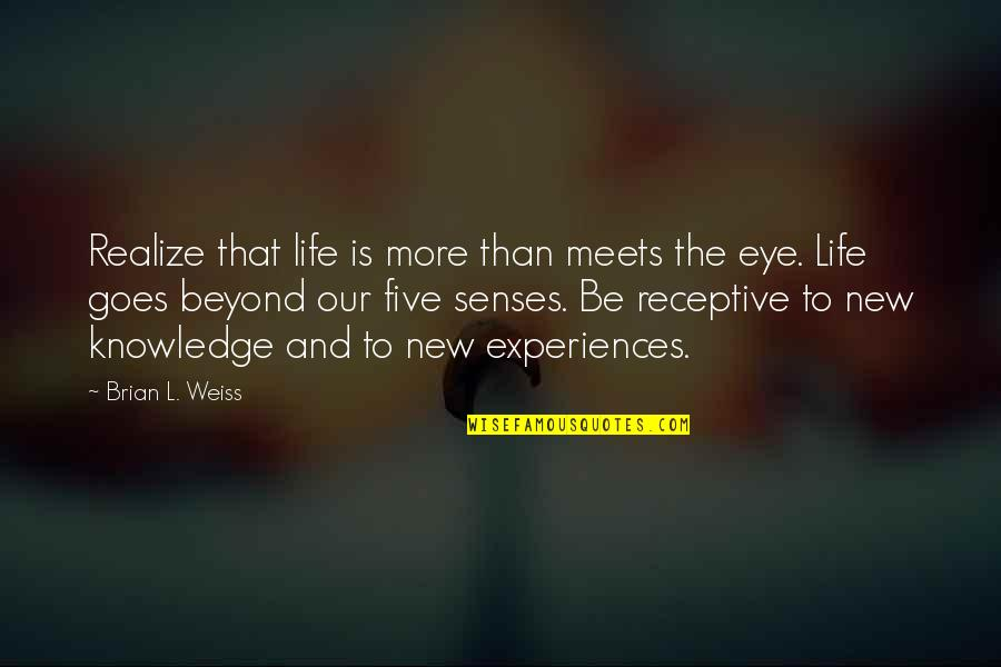 Boudas Quotes By Brian L. Weiss: Realize that life is more than meets the