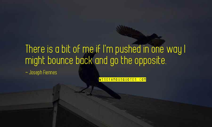 Bounce Back Quotes By Joseph Fiennes: There is a bit of me if I'm