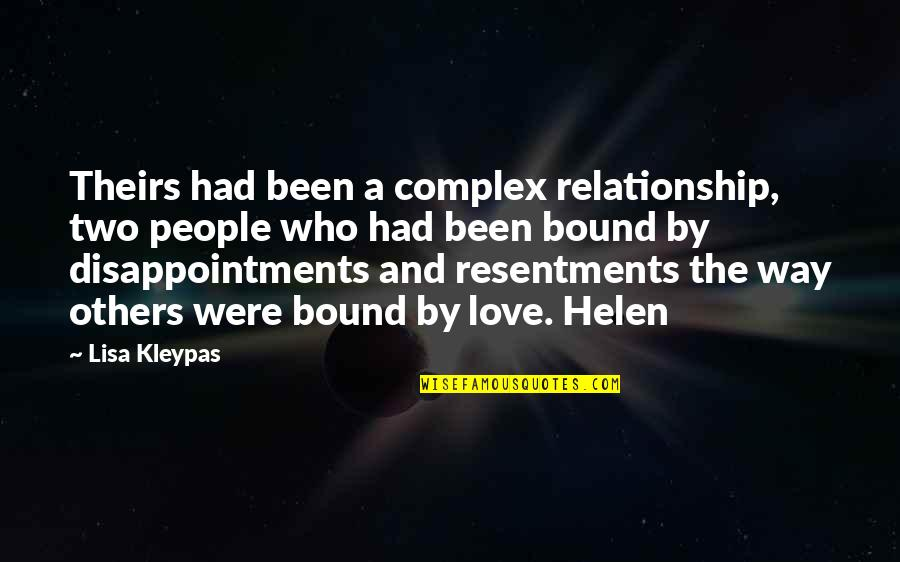Bound In Love Quotes By Lisa Kleypas: Theirs had been a complex relationship, two people