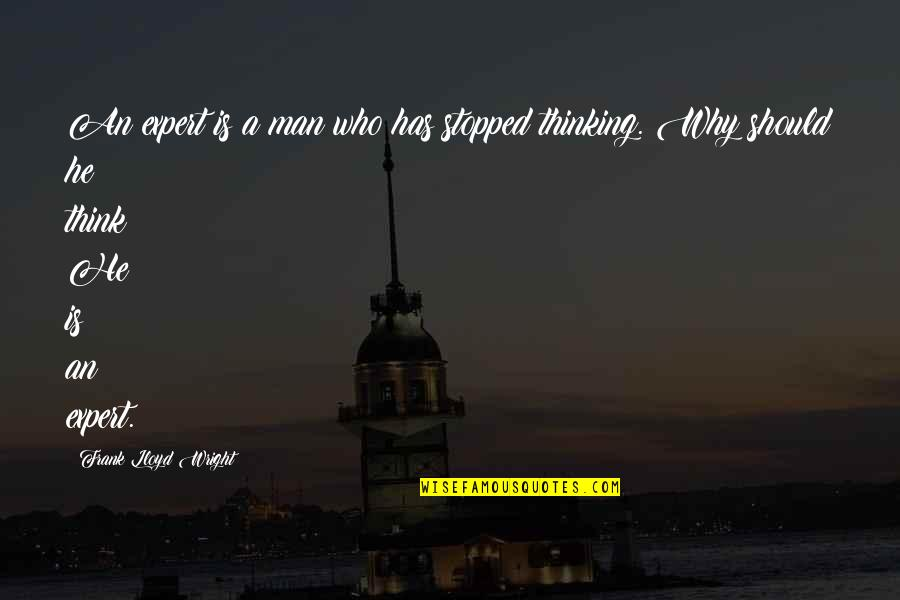 Bouthaina Quotes By Frank Lloyd Wright: An expert is a man who has stopped