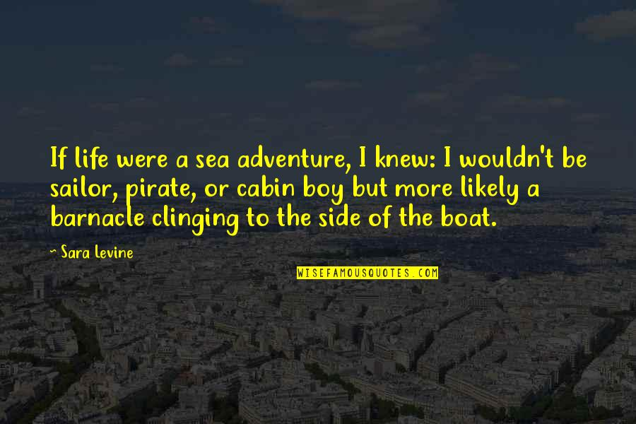 Boy If You Only Knew Quotes By Sara Levine: If life were a sea adventure, I knew: