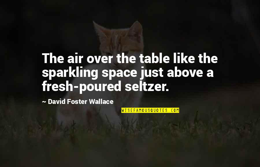 Bracelet Inspirational Quotes By David Foster Wallace: The air over the table like the sparkling