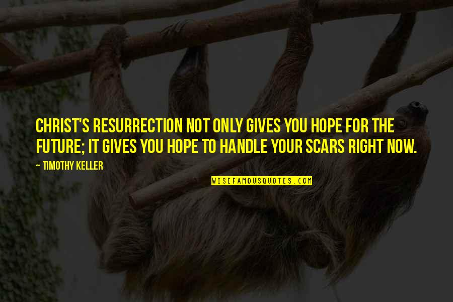 Brahmamuhurta Quotes By Timothy Keller: Christ's resurrection not only gives you hope for