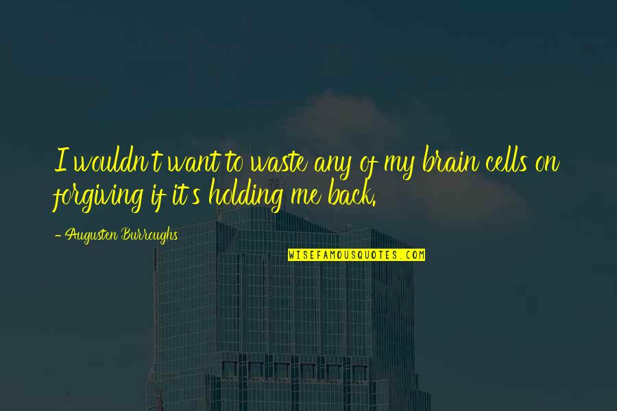 Brain Cells Quotes By Augusten Burroughs: I wouldn't want to waste any of my