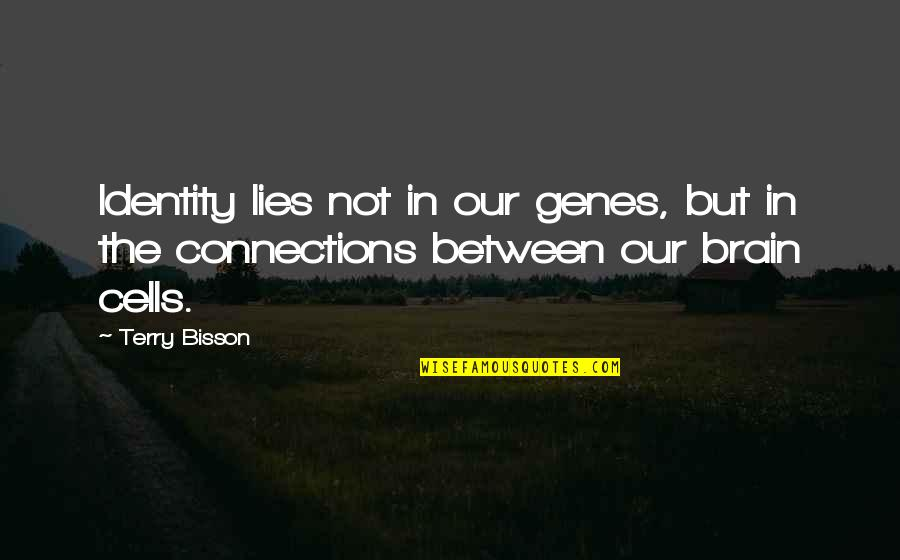 Brain Cells Quotes By Terry Bisson: Identity lies not in our genes, but in