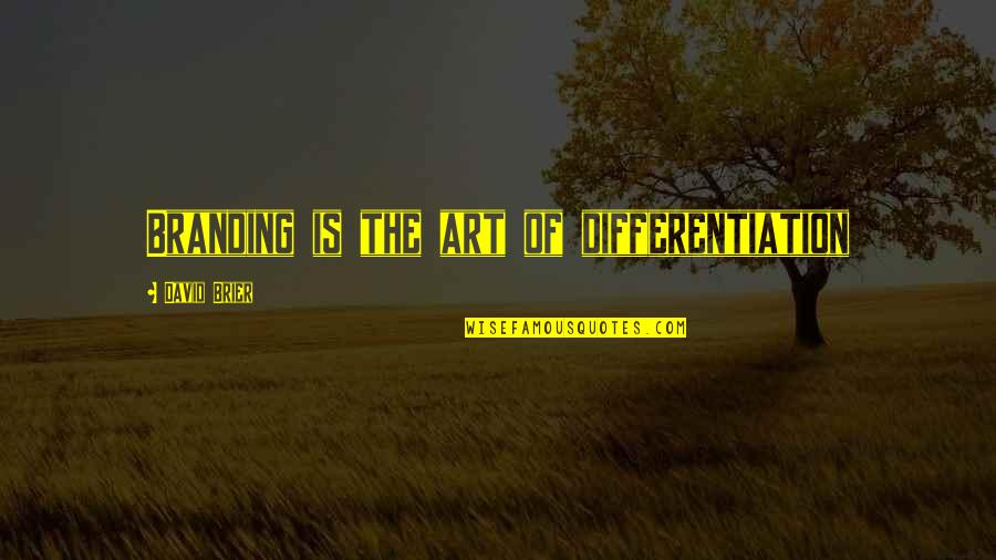 Brand Differentiation Quotes By David Brier: Branding is the art of differentiation