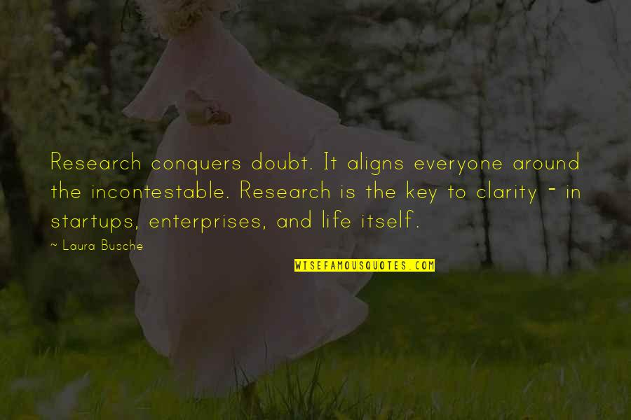 Brand Marketing Quotes By Laura Busche: Research conquers doubt. It aligns everyone around the