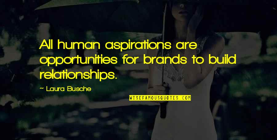 Brand Marketing Quotes By Laura Busche: All human aspirations are opportunities for brands to