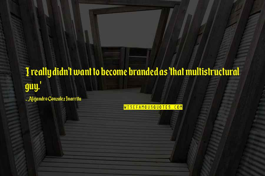 Branded Quotes By Alejandro Gonzalez Inarritu: I really didn't want to become branded as
