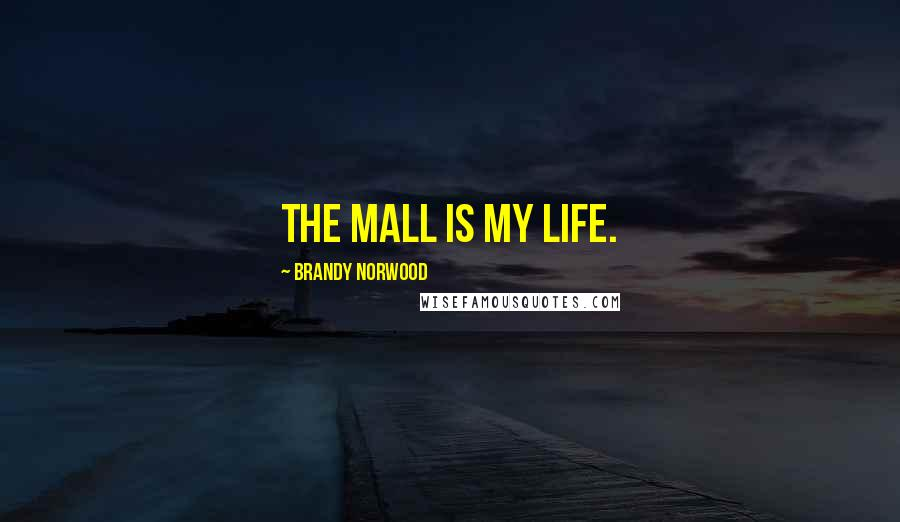 Brandy Norwood quotes: The mall is my life.