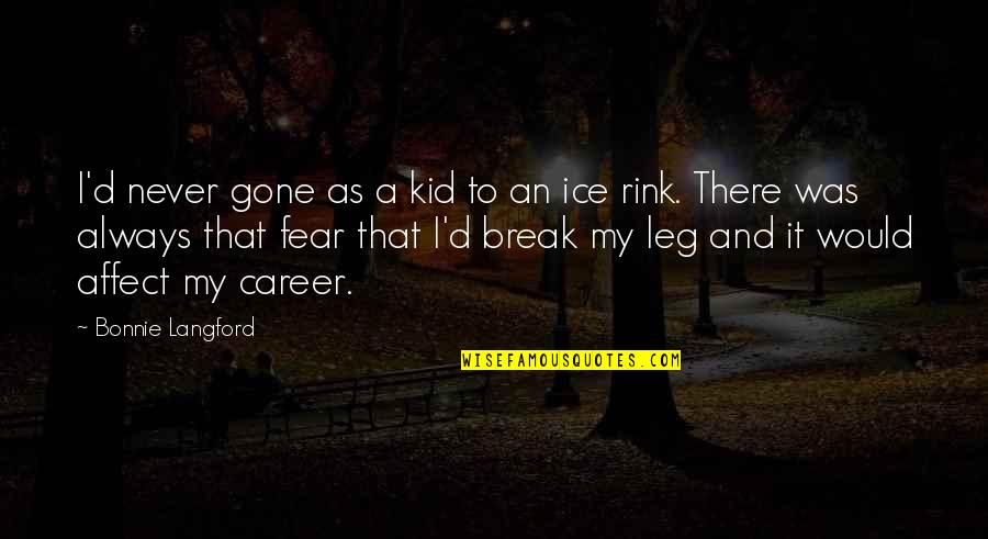 Break Leg Quotes By Bonnie Langford: I'd never gone as a kid to an