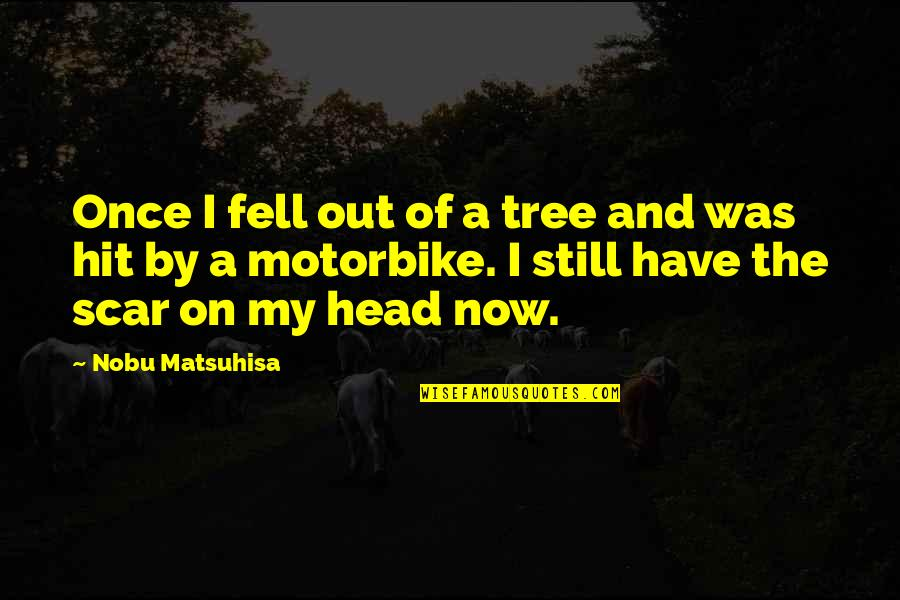 Breakups In Spanish Quotes By Nobu Matsuhisa: Once I fell out of a tree and