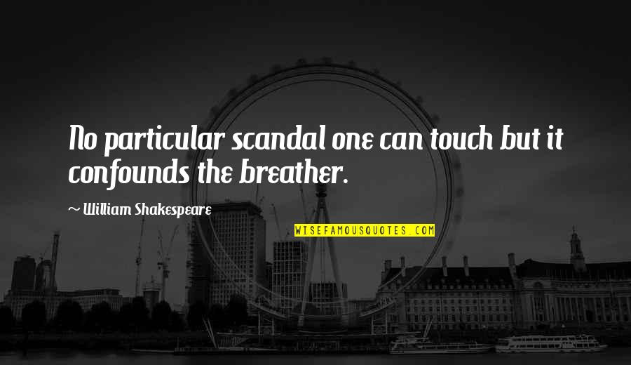 Breather's Quotes By William Shakespeare: No particular scandal one can touch but it