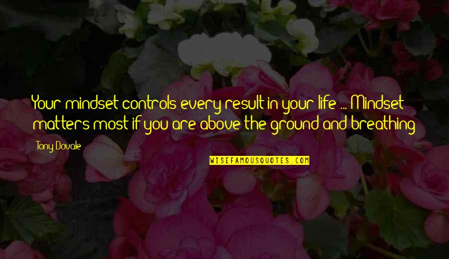 Breathing Success Quotes By Tony Dovale: Your mindset controls every result in your life
