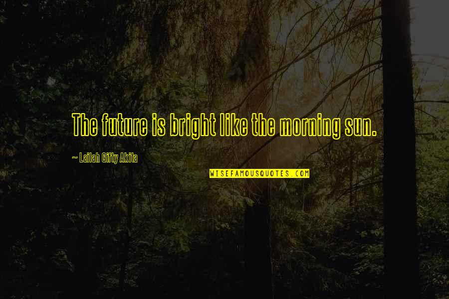 Brendan Gleeson Quotes By Lailah Gifty Akita: The future is bright like the morning sun.