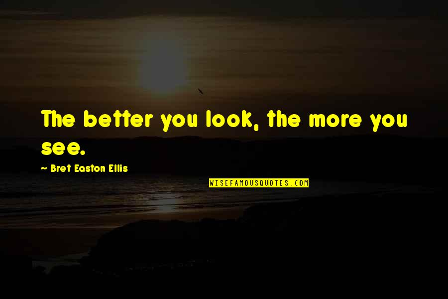 Bret Easton Ellis Quotes By Bret Easton Ellis: The better you look, the more you see.
