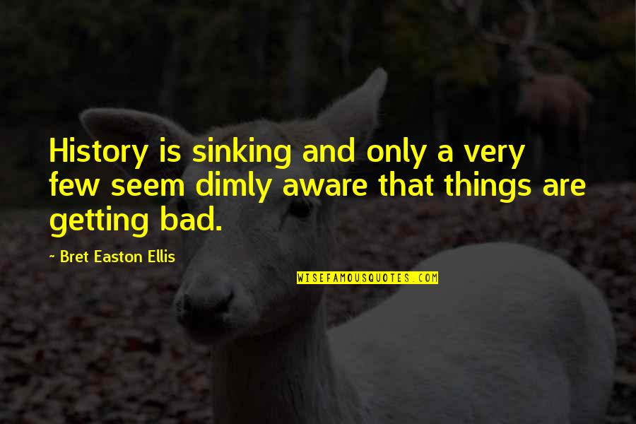 Bret Easton Ellis Quotes By Bret Easton Ellis: History is sinking and only a very few