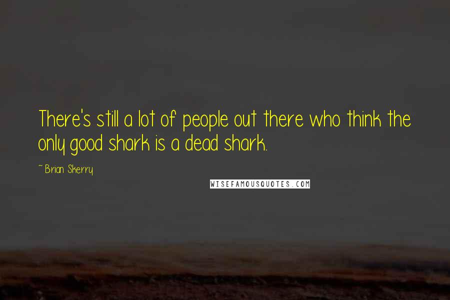 Brian Skerry quotes: There's still a lot of people out there who think the only good shark is a dead shark.