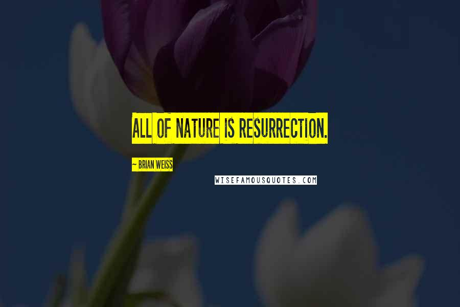 Brian Weiss quotes: All of nature is resurrection.