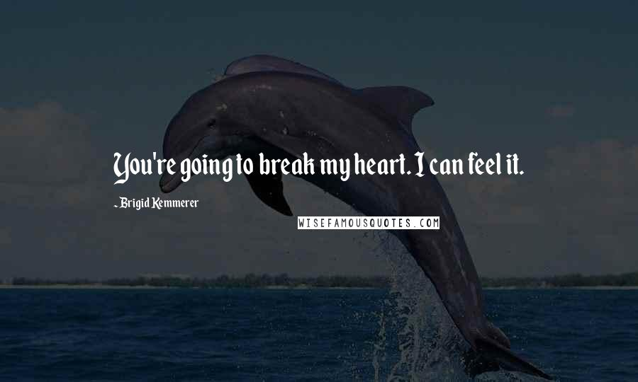 Brigid Kemmerer quotes: You're going to break my heart. I can feel it.