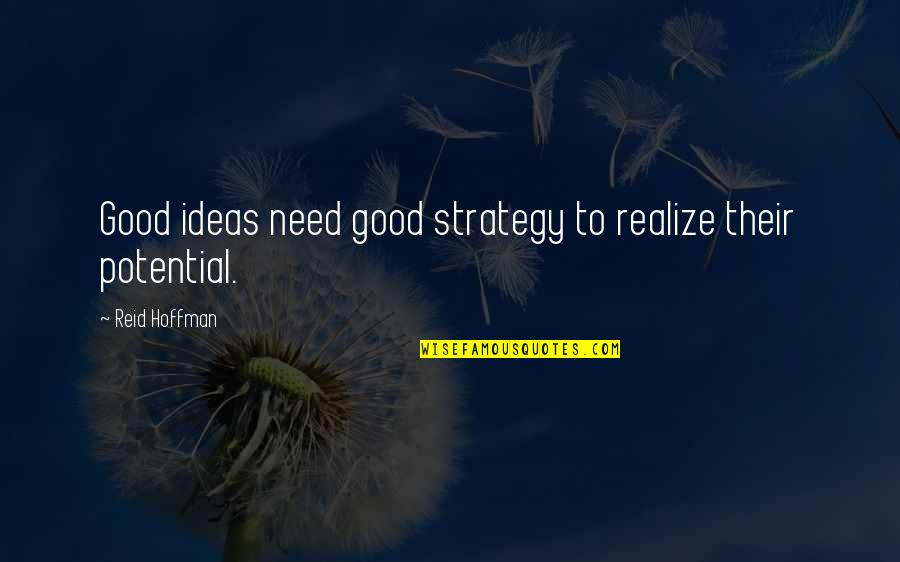 Brihadeeswara Temple Quotes By Reid Hoffman: Good ideas need good strategy to realize their