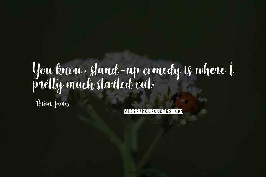 Brion James quotes: You know, stand-up comedy is where I pretty much started out.