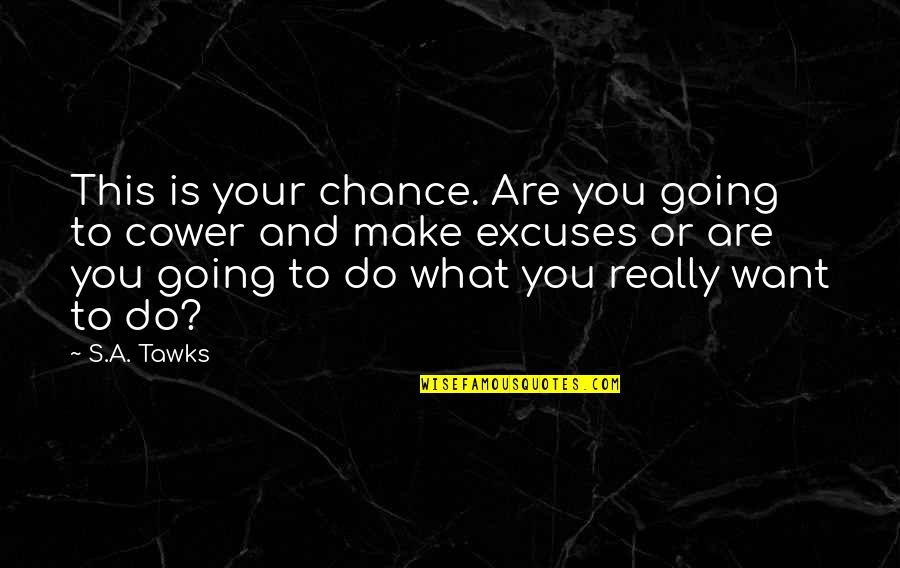 Brisbane Quotes By S.A. Tawks: This is your chance. Are you going to