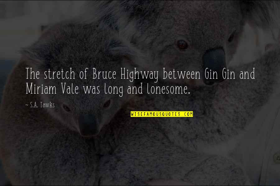 Brisbane Quotes By S.A. Tawks: The stretch of Bruce Highway between Gin Gin