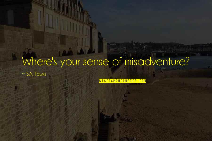 Brisbane Quotes By S.A. Tawks: Where's your sense of misadventure?