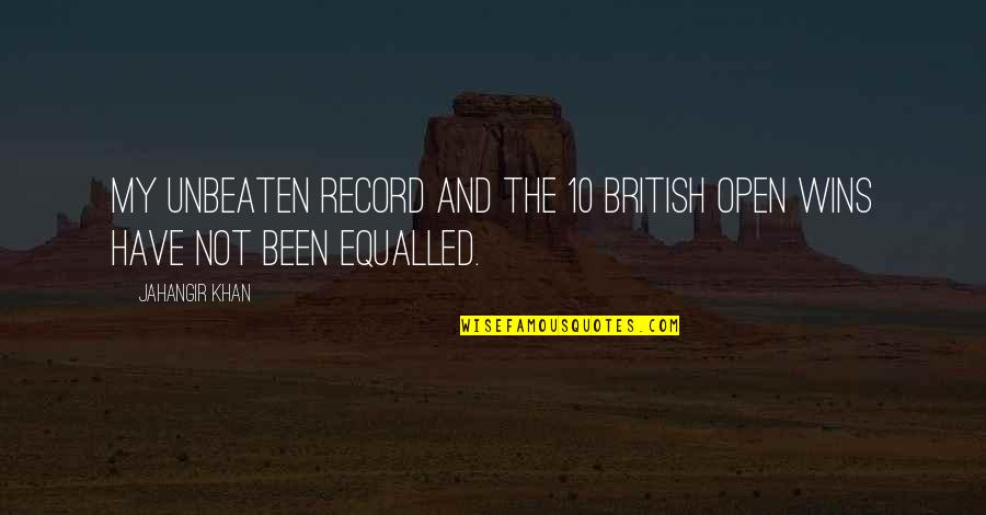 British Open Quotes By Jahangir Khan: My unbeaten record and the 10 British Open