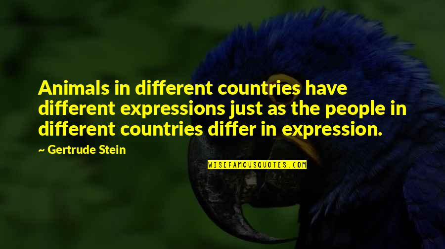 Broken Heart Images And Quotes By Gertrude Stein: Animals in different countries have different expressions just