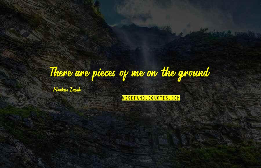 Broken Pieces Quotes By Markus Zusak: There are pieces of me on the ground.