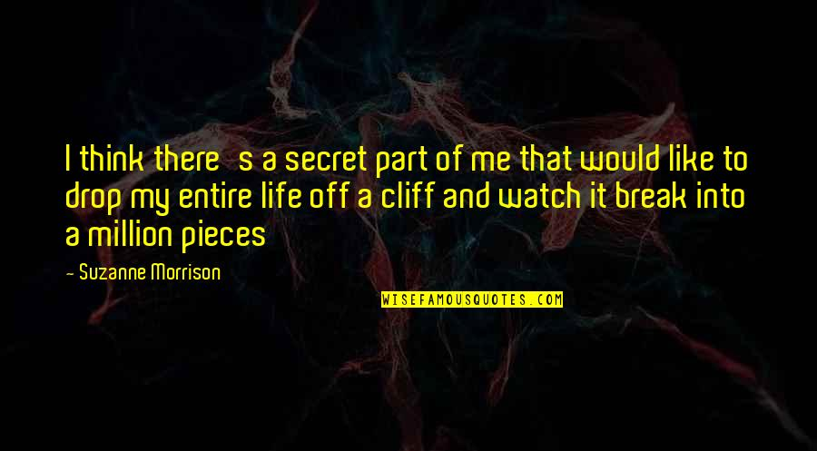 Broken Pieces Quotes By Suzanne Morrison: I think there's a secret part of me