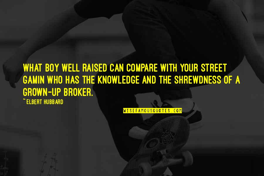 Broker Than Quotes By Elbert Hubbard: What boy well raised can compare with your
