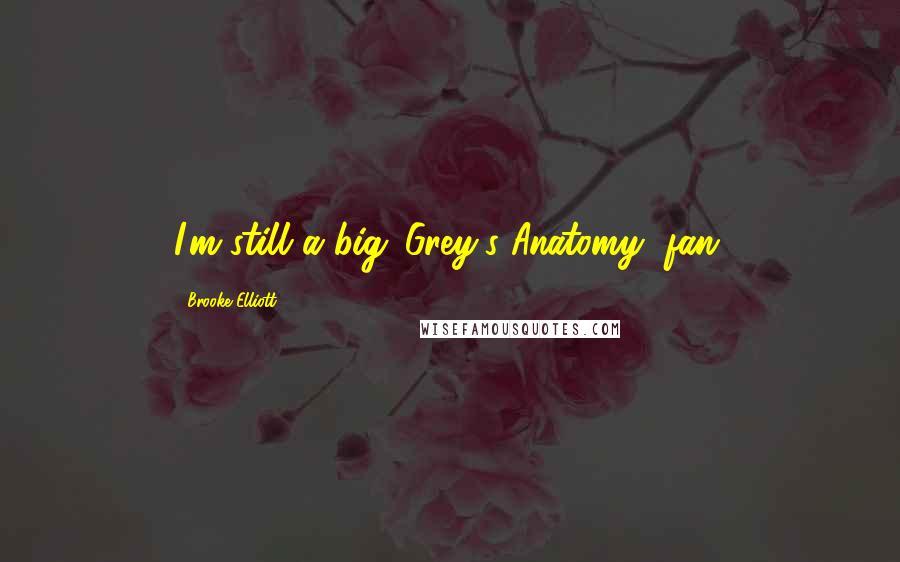 Brooke Elliott quotes: I'm still a big 'Grey's Anatomy' fan.