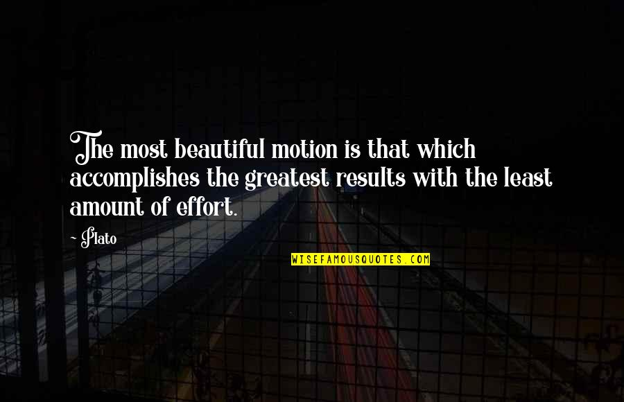Brooklyn Colm Toibin Quotes By Plato: The most beautiful motion is that which accomplishes