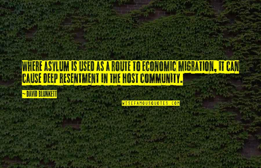 Brother Who Has Passed Away Quotes By David Blunkett: Where asylum is used as a route to