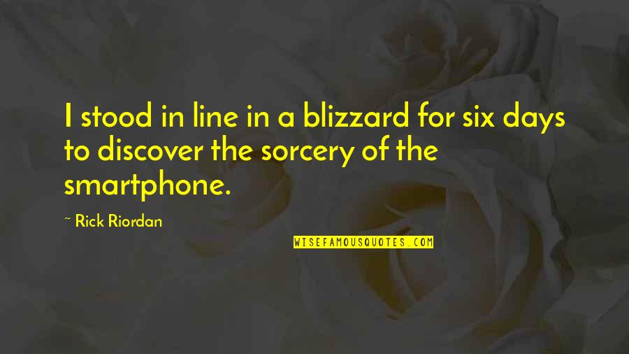 Brugmansia Quotes By Rick Riordan: I stood in line in a blizzard for