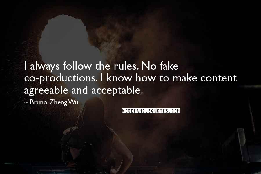 Bruno Zheng Wu quotes: I always follow the rules. No fake co-productions. I know how to make content agreeable and acceptable.